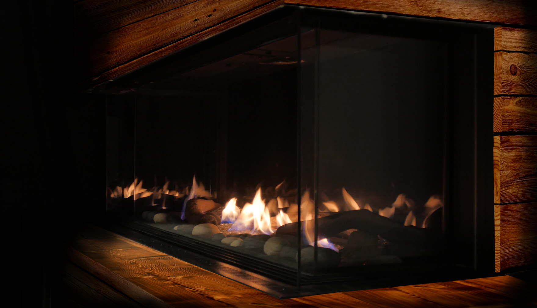 Combustibles around Gas fireplace